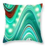 Moveonart Wave Of Enlightenment One Throw Pillow