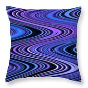 Moveonart Waves In Peaceful Movement Throw Pillow