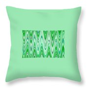 Moveonart Waves Of Good Fortune Throw Pillow