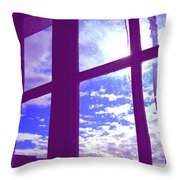 Moveonart Window Watching Series 4 Throw Pillow