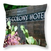 Movie Colony Hotel Palm Springs Throw Pillow