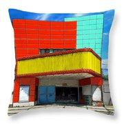 Movie House Throw Pillow