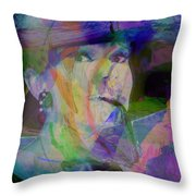 Movie Icons - Audrey Hepburn V Throw Pillow