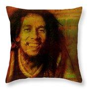 Movie Icons - Bob Marley I Throw Pillow