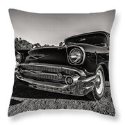 Movie Night In The '57 Throw Pillow by CJ Schmit