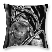 Movie Projector Light In Black And White Throw Pillow