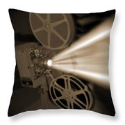 Movie Projector  Throw Pillow