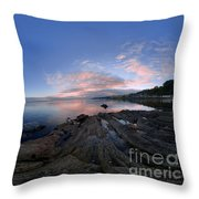 Moville Shoreline At Dusk Throw Pillow