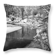 Moving Around The Bend Throw Pillow
