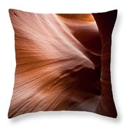 Moving Canyon Throw Pillow