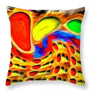 Moving Colors Throw Pillow