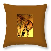 Moving Elephant Throw Pillow