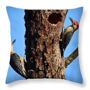 Red Bellied Woodpeckers Throw Pillow