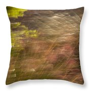 Moving In The Wind Throw Pillow