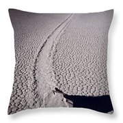 Moving Rocks Number 2  Death Valley Bw Throw Pillow