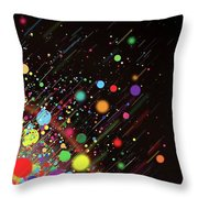 Moving Spheres. Throw Pillow