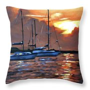 Moving Toward The Light Throw Pillow