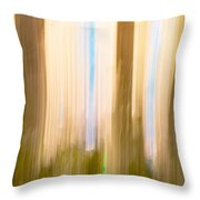 Moving Trees 15 Gold Brown Throw Pillow
