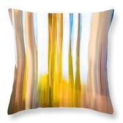 Moving Trees II Saturated Throw Pillow