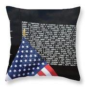 Moving Wall - Vietnam Memorial Throw Pillow