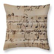 Mozart: Motet Manuscript Throw Pillow