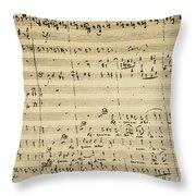 Mozart: Requiem Excerpt Throw Pillow