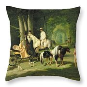 Mr And Mrs A Mosselman And Their Two Daughters Throw Pillow