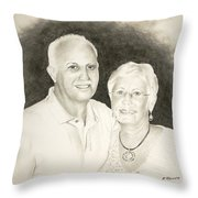 Mr And Mrs B Throw Pillow