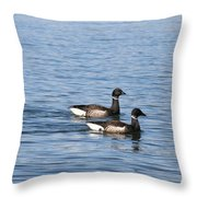 Mr. And Mrs. Brant Throw Pillow