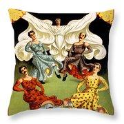 Mr. And Mrs. Herbert L. Flint  Throw Pillow
