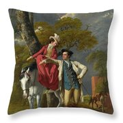 Mr And Mrs Thomas Coltman Throw Pillow