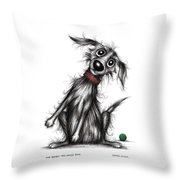 Mr Bark The Noisy Dog Throw Pillow