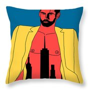 Mr. Big Apple Throw Pillow