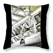 Mr Bones In Black And White With Sepia Tones Throw Pillow