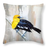 Mr. Curious Throw Pillow
