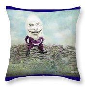 Mr. Egg Head Throw Pillow