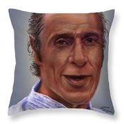Mr. Garay Portrait Throw Pillow