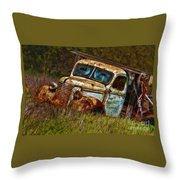 Mr Greenjeans Truck Ciose Up Throw Pillow