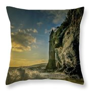 The Pirate's Tower Throw Pillow