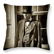 Mr Lincoln Throw Pillow