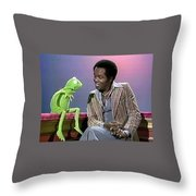 Mr Lou Rawls - Kermit The Frog Throw Pillow