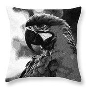 Mr Macaw The Parrot Throw Pillow