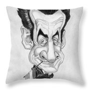 Mr Nicolas Sarkozi Caricatur Portrait Throw Pillow