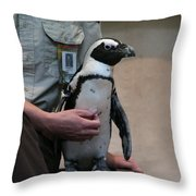 Mr. Penguin Throw Pillow
