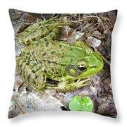 Mr. Perfectfrog Throw Pillow