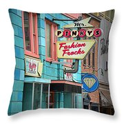 Mr. Pinky's Throw Pillow
