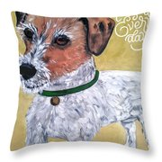 Mr. R. Terrier Throw Pillow