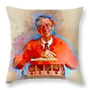 Mr. Rogers Throw Pillow