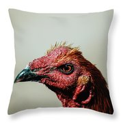 Mr. Rooster II Throw Pillow