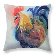 Mr Rooster Throw Pillow